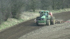 Seed drill at work - front view 4 Stock Footage