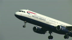 Stock Video Footage of HD1080i Passenger jetliner british airways