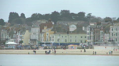 Weymouth Beach in the Winter - stock footage