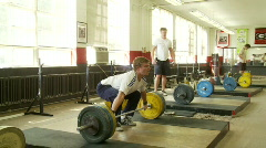 120 kilo snatch - stock footage
