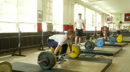 Stock Video Footage of 120 kilo snatch