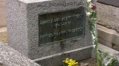 Jim Morrison Headstone Stock Footage
