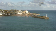 St Ives Harbour Stock Footage