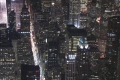 New York Skyline~Night 005  01 - stock footage