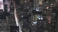 Stock Video Footage of New York Skyline~Night 005  01