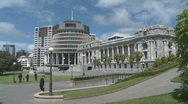 Parliment buildings, New Zealand Stock Footage
