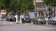 Stock Video Footage of Paris streets 9 Champs-Elysées Police car