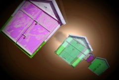 Houses in Space Stock Footage