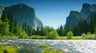 Stock Video Footage of El Capitan, Yosemite National Park, Merced River