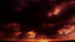 VJ Loop 161 : Sunset Cloudscape Stock Footage