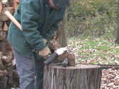 Stock Video Footage of Chopping Wood 1