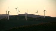Mountain windmills Stock Footage