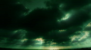 VJ Loop 163 : Sunset Cloudscape Green Stock Footage