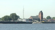 Stock Video Footage of Container ship at Hamburg harbour