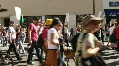 Gay Marriage Protest Rally March HD Stock Footage