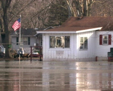 Flooded House 2 Stock Footage