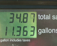 Gasoline Price Counter Stock Footage