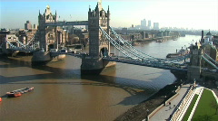 A view of london in time lapse Stock Footage