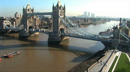 Stock Video Footage of a view of london in time lapse