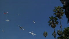 Many Fast Planes - stock footage