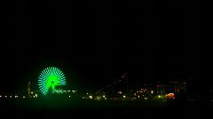 Neon Amusement Park - stock footage