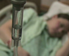 Hospital Patient with IV 2 Stock Footage