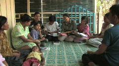 Cambodia: Bible Study Stock Footage