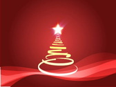 Christmas tree  loop animation, red colors Stock Footage