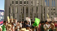Equal Rights March Crowd Stock Footage