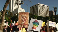 Equal Rights Rally - Great Audio Stock Footage