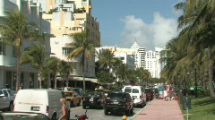 Ocean Drive in South Beach, Miami Stock Footage