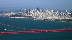 San Francisco and Golden Gate Bridge Stock Footage