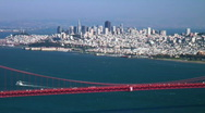 San Francisco and Golden Gate Bridge Stock Footage