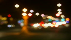Pretty city lights.  Stock Footage