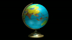 Globe spinning with alpha channel Loopable HD Stock Footage