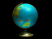 Globe spinning with alpha channel Loopable PAL Stock Footage