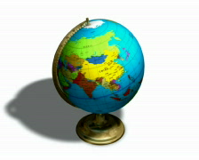 Globe spinning with shadow Loopable PAL Stock Footage