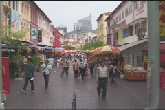 Singapore Pedestrians - stock footage