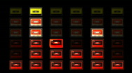 Cassette graphic equalisers audio music tape Stock Footage