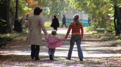 Stock video footage Mother with little girls  Stock Footage