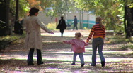 Stock Video Footage of Mother with little girls 005