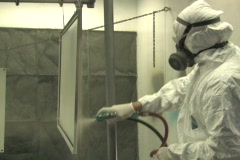 Industrial Spray Painting 1 - stock footage