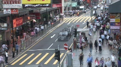 Crowded  Hong Kong Street 1 (time lapse) Stock Footage