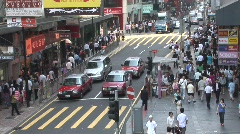Crowded Hong Kong street 2 Stock Footage