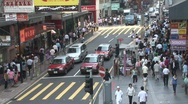 Stock Video Footage of Crowded Hong Kong street 2
