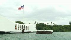 View of USS Arizona Memorial Stock Footage