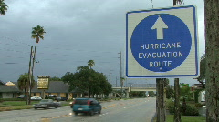Hurricane Evacuation Route  - stock footage