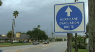 Hurricane Evacuation Route  Stock Footage