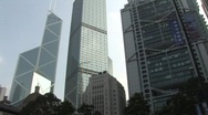 Stock Video Footage of Hong Kong Skyscrapers 6
