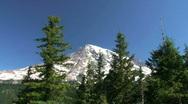 Mount Rainier National Park Landscape in Washington State Stock Footage